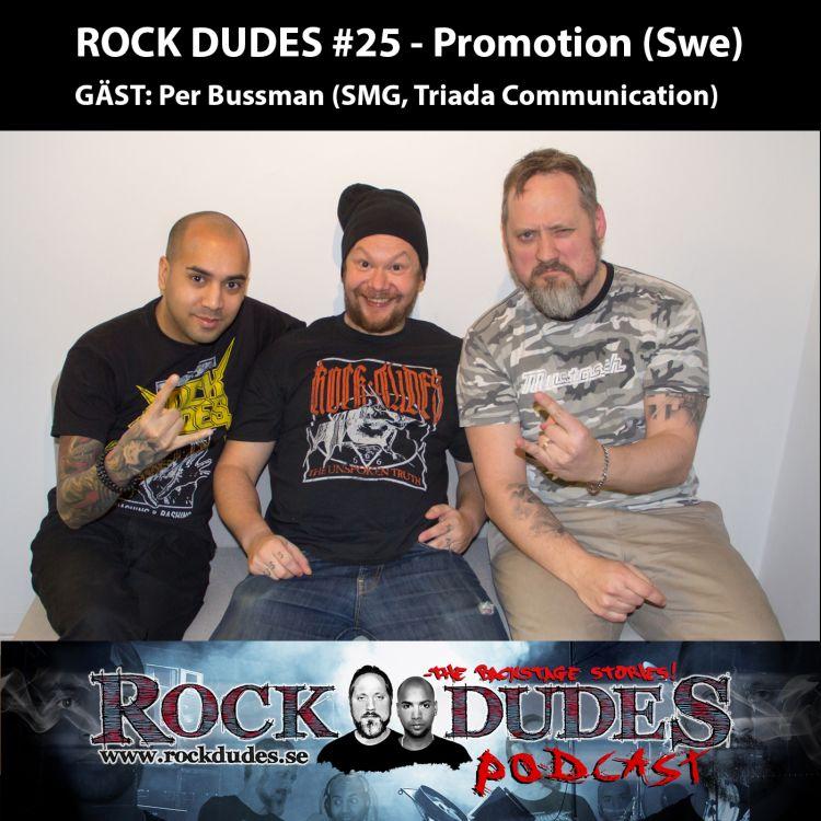 cover art for Rock Dudes #25 – PROMOTION (Gäst: Per Bussman) – (Swe)