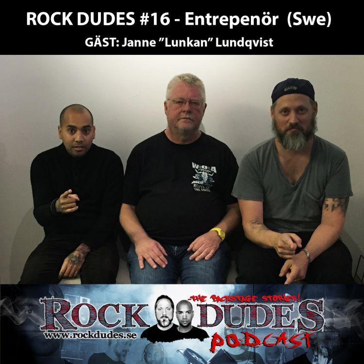 cover art for Rock Dudes #16 – Entrepenör (Gäst: Janne Lundqvist) – (Swe)