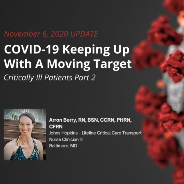 cover art for UPDATE 11/6/2020 - COVID-19 Critically Ill Patients Part 2