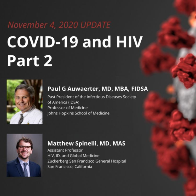 cover art for UPDATE 11/4/2020 - COVID-19 & HIV Part 2