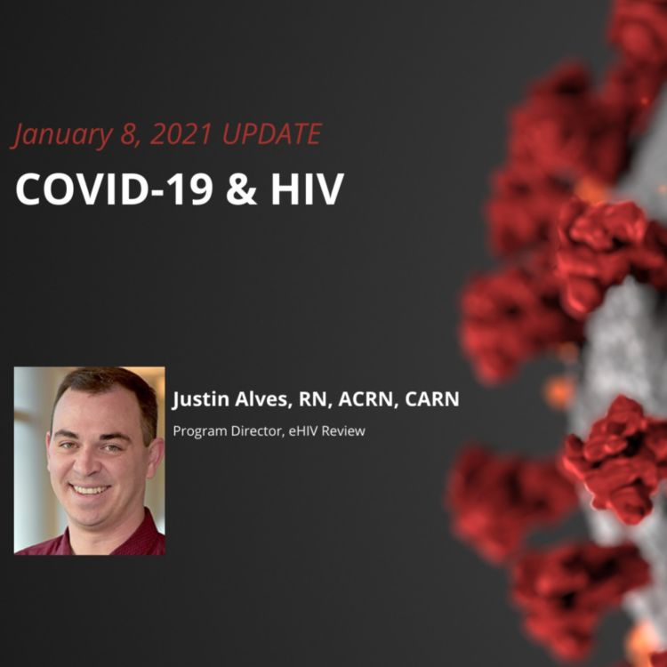cover art for UPDATE 1/8/2021 - COVID-19 & HIV