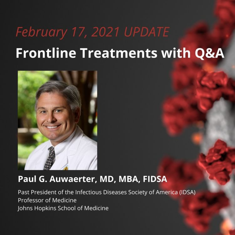 cover art for UPDATE 2/17/21 - Frontline Treatments with Q&A