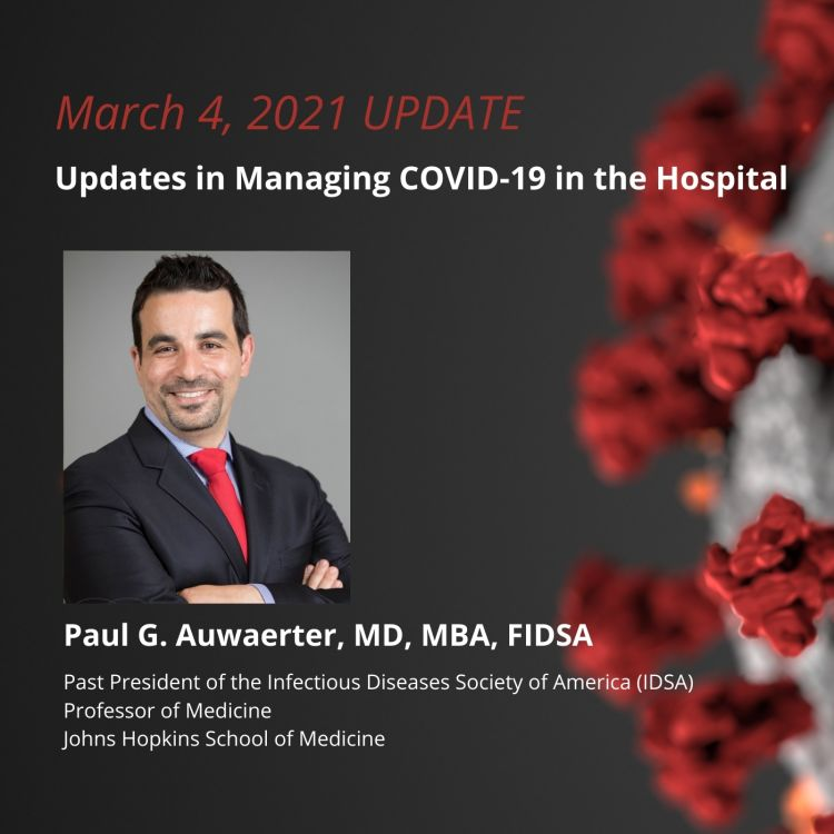 cover art for Updates in Managing COVID-19 in the Hospital