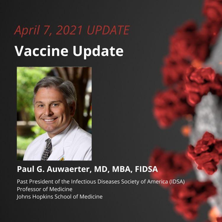 cover art for UPDATE 4/7/2021 - Vaccine Update