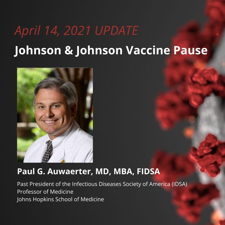 cover art for UPDATE 4/14/2021 - Johnson & Johnson Vaccine Pause