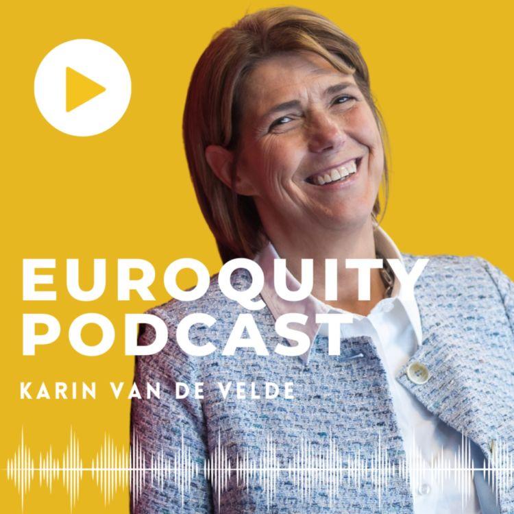 """cover art for #12 Karin Van De Velde """"Le caractère d'un entrepreneur, c'est persister """""""