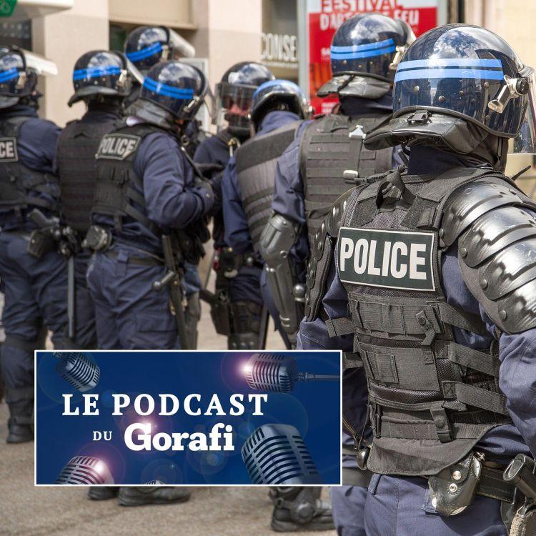 """cover art for Gérald Darmanin souhaite flouter les mots """"violences policières"""" sur internet"""