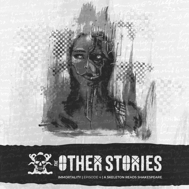 cover art for 58.4 A Skeleton Reads Shakespeare