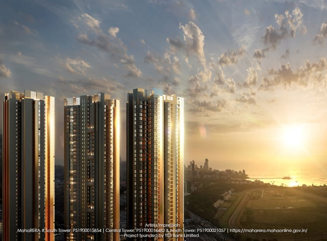 Lavish Sea-view apartments for sale in North, South and Central tower