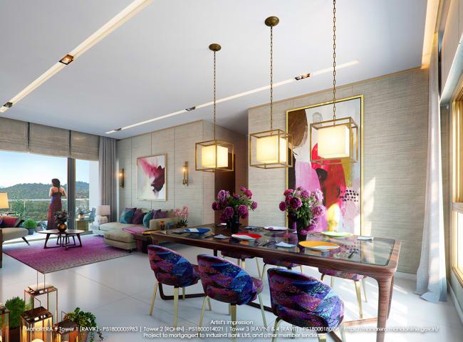 Well designed 2bhk apartments at Piramal Revanta accomodating luxurious lifestyle