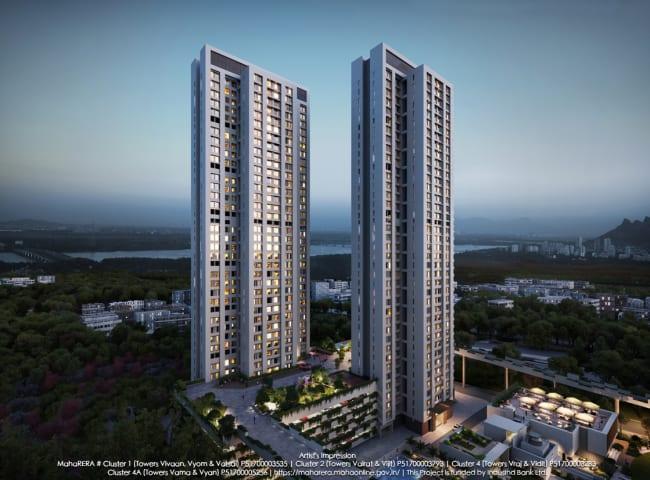 A stunning view of Piramal Vaikunth Towers