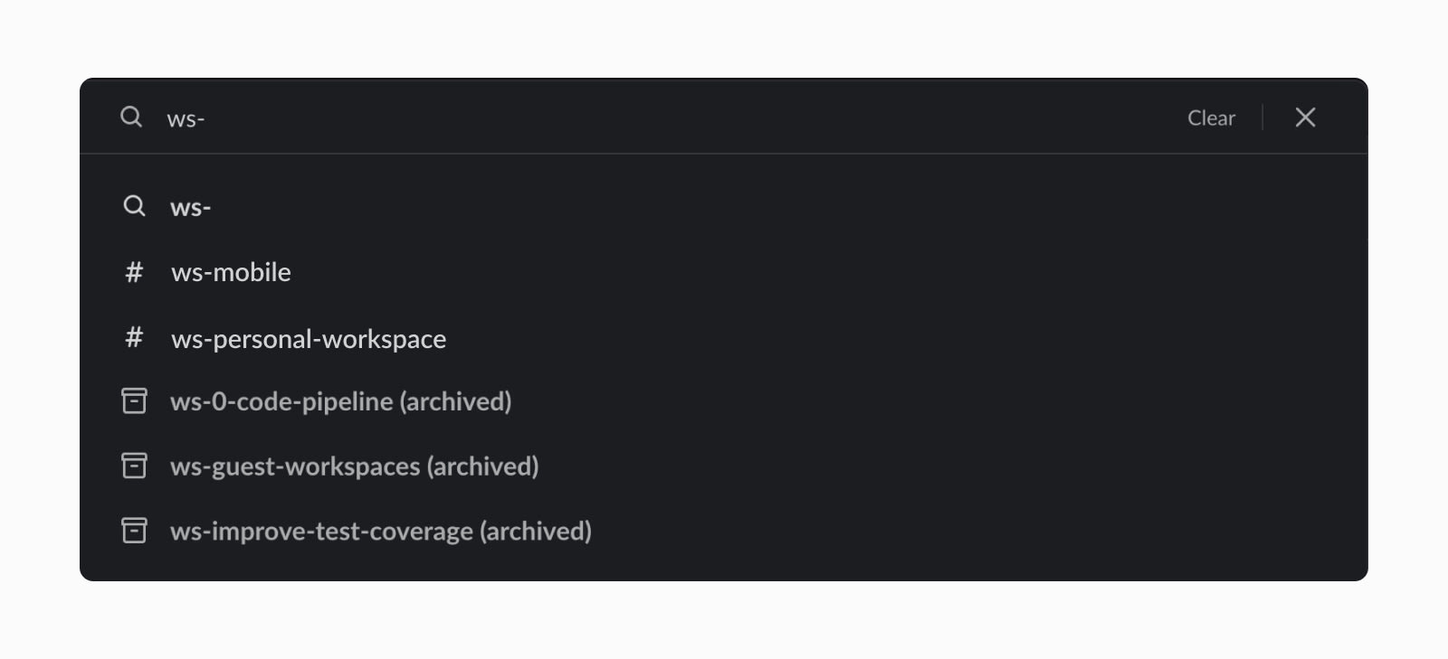 Group Slack channels by topic