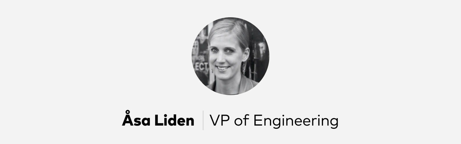 Asa Liden VP Engineering at Pitch