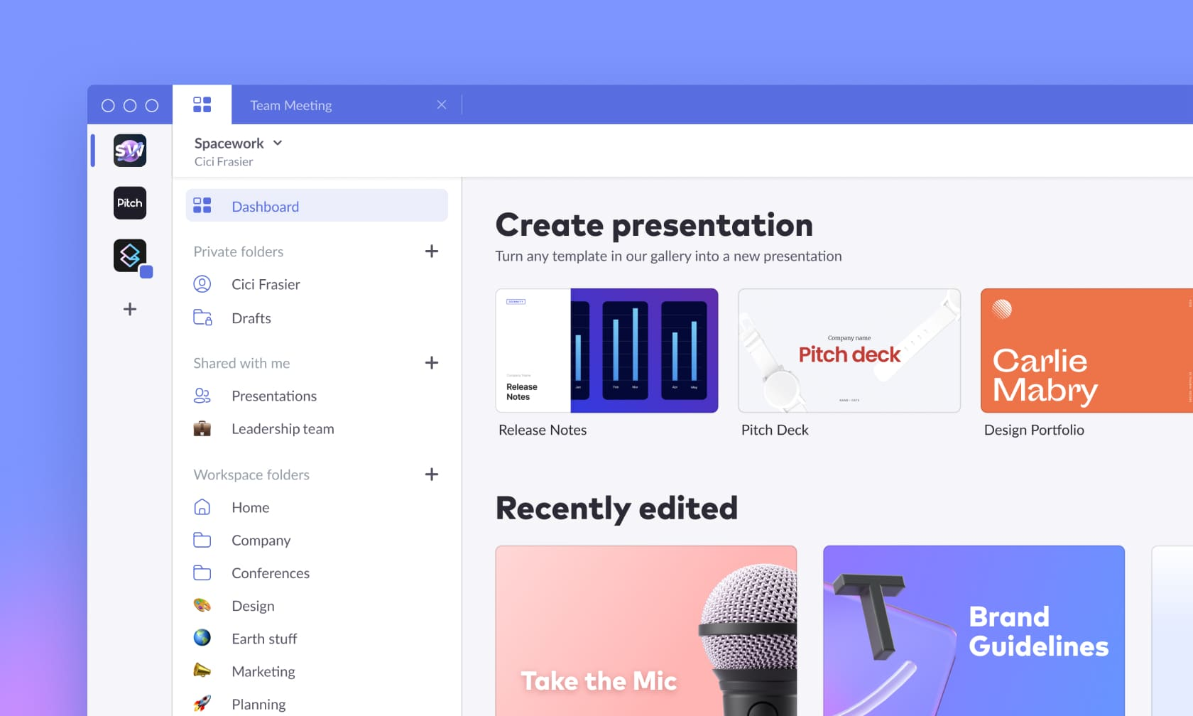 Pitch, the presentations software for modern teams, has redesigned its app to make collaborating and creating easier than ever.