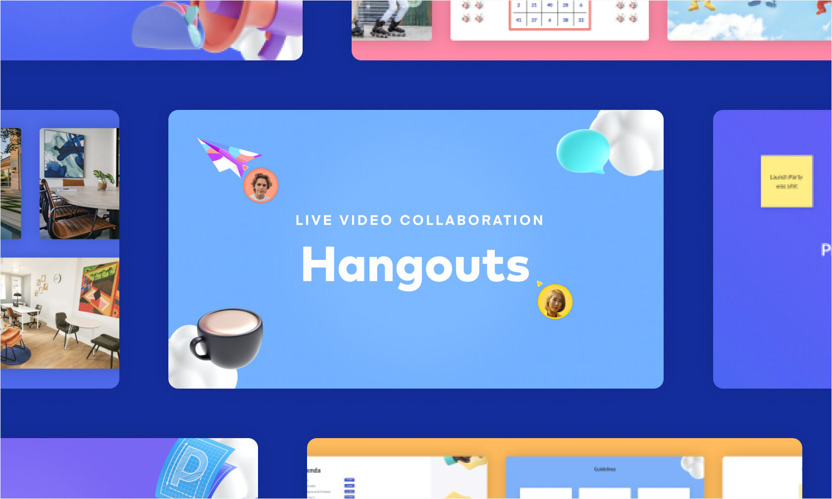 Presentation templates for live video collaboration by Pitch