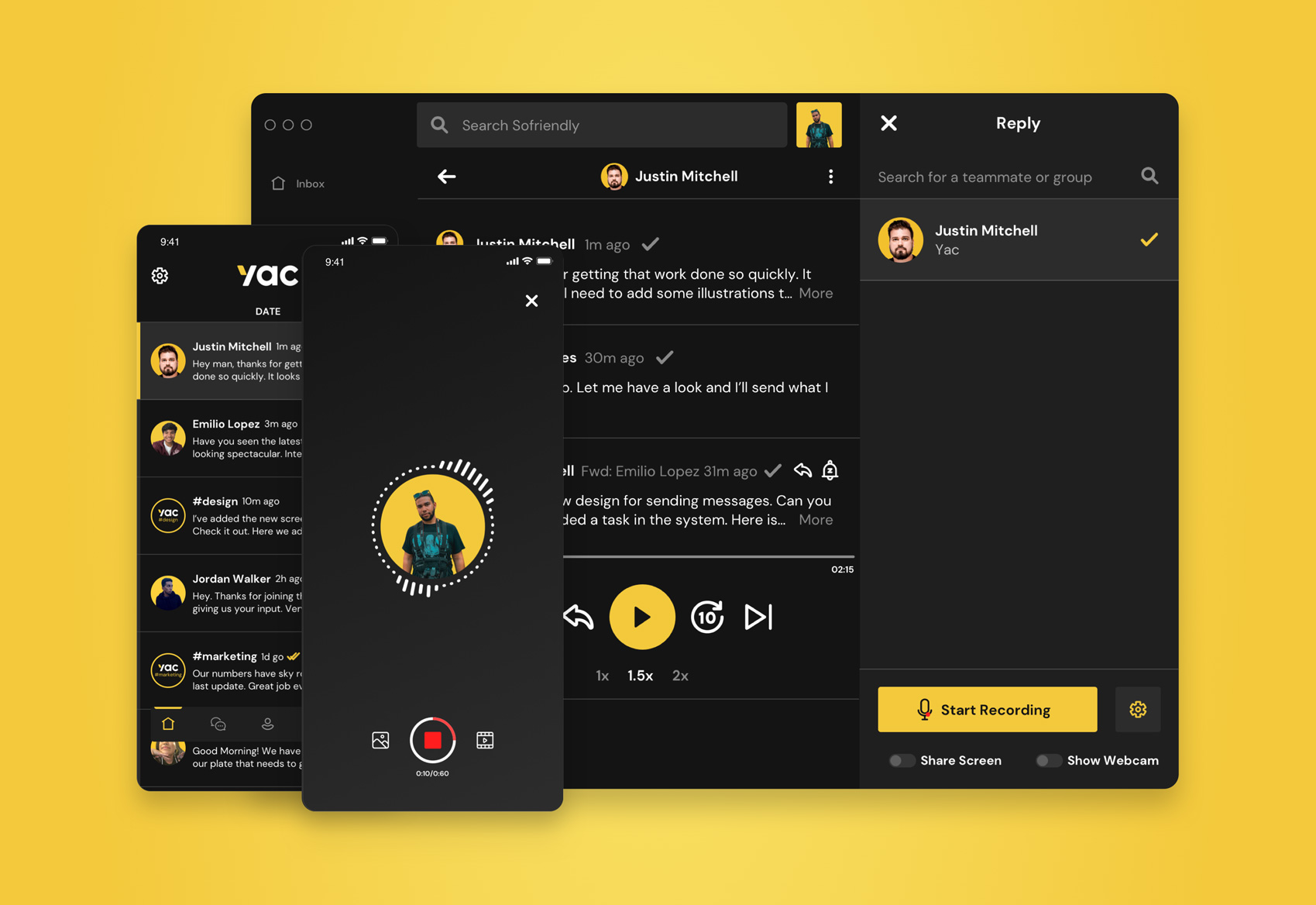 Yac voice messaging