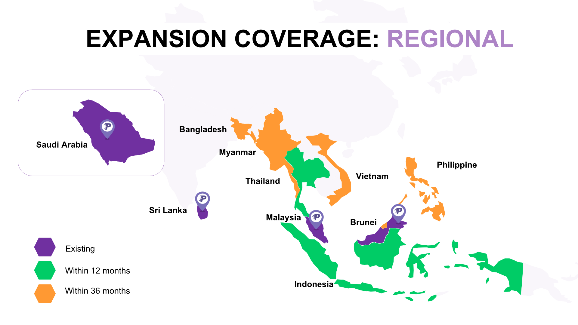 Expansion Coverage : Regional