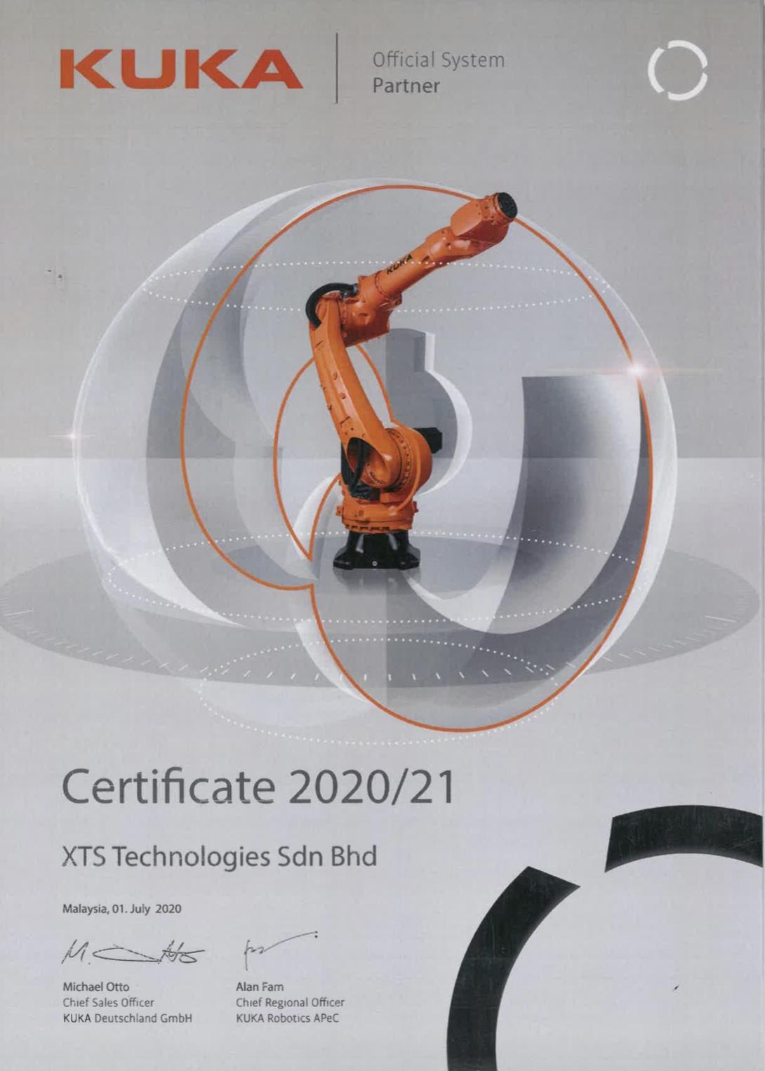 XTS-Kuka System parter