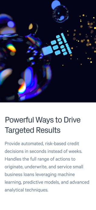 Drive targeted results through analytics