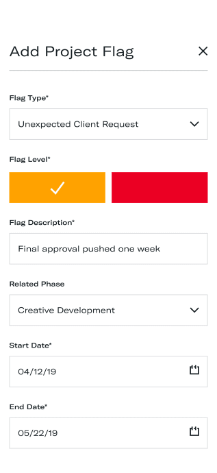 Add new client flag to project