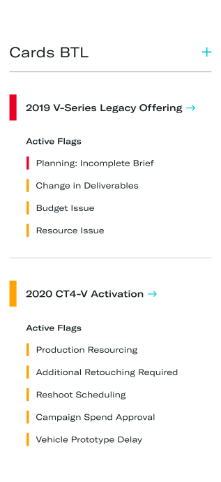 Elevate individual project flags for action