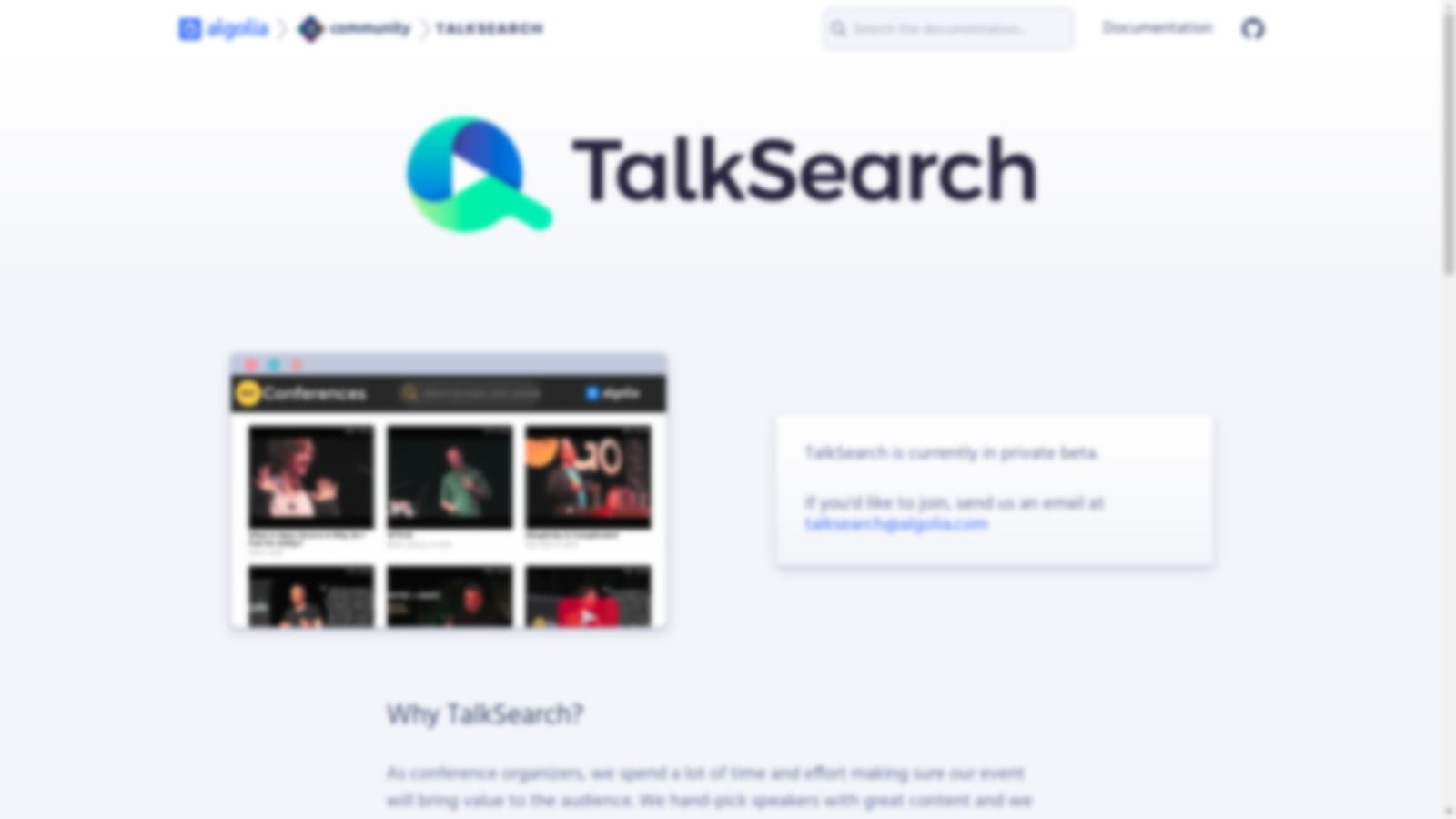 TalkSearch