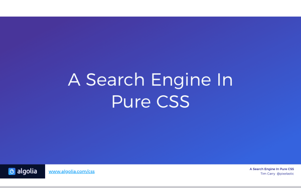 A Search Engine in Pure CSS