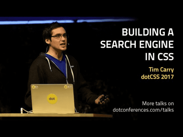 Building a search engine with CSS