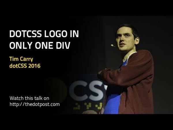 dotCSS logo in one div