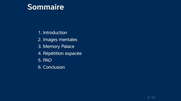 Techniques de mémorisation