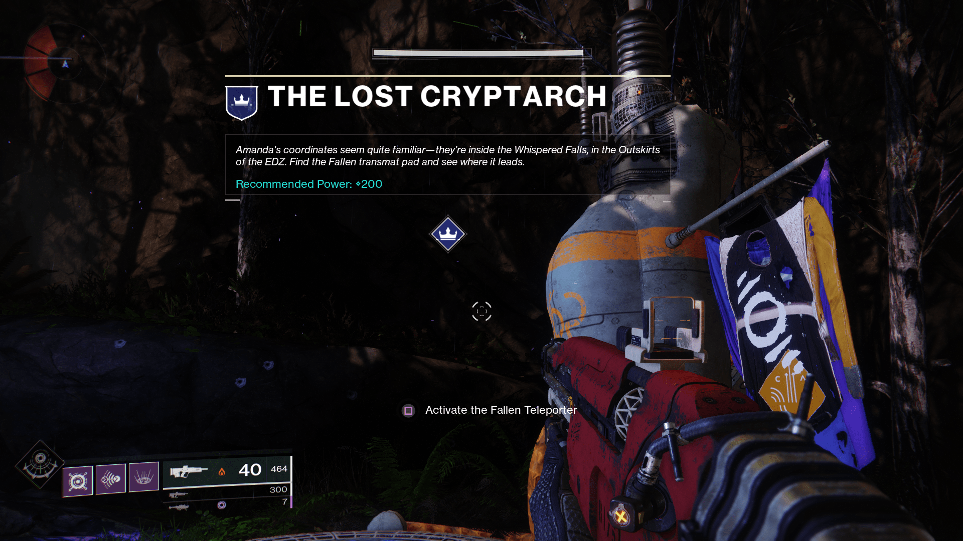 Destiny 2 The Lost Cryptarch
