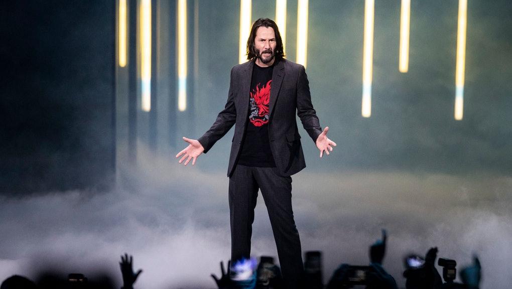 Keanu Reeves Cyberpunk 2077 bemutató