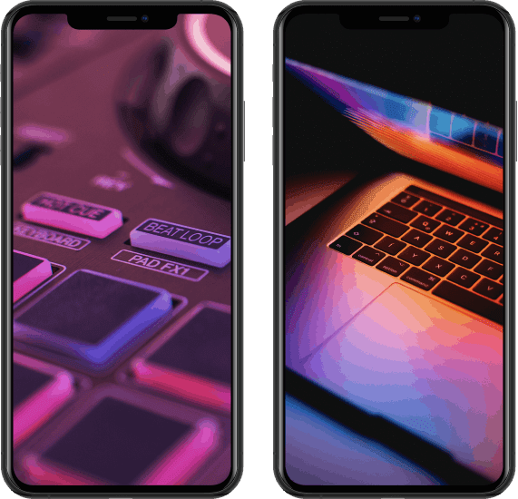 2 iPhone Devices with Screenshot Mockups