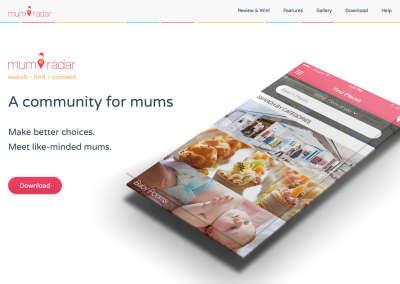 MumRadar Landing Page