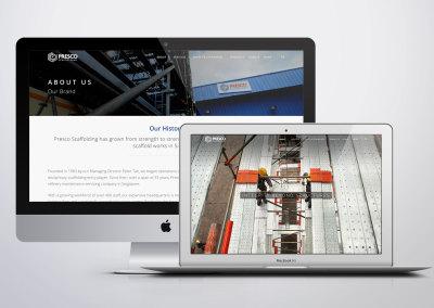 Presco Scaffolding Web Design