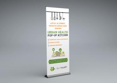 Urban Health Pop-up Kitchen Launch Marketing Collateral