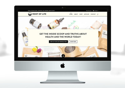 Root of Life eCommerce Website