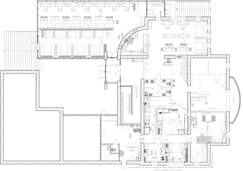 """План второго этажа ресторана """"ПиццаФабрика"""""""