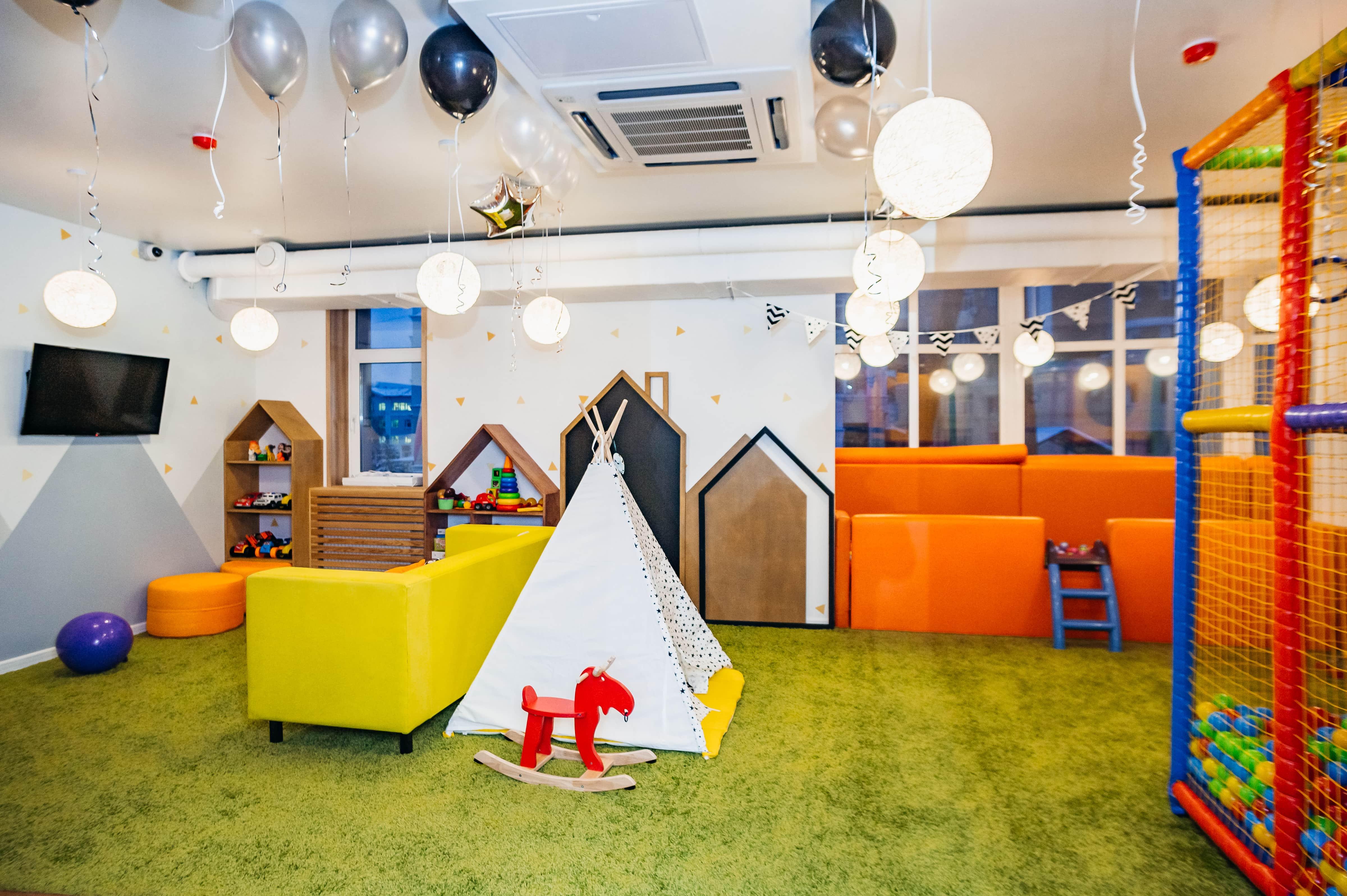 Детская комната в ресторане ПиццаФабрика в Вологде