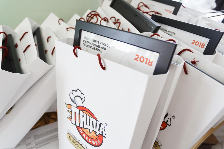 Брендированные пакеты ПиццаФабрика