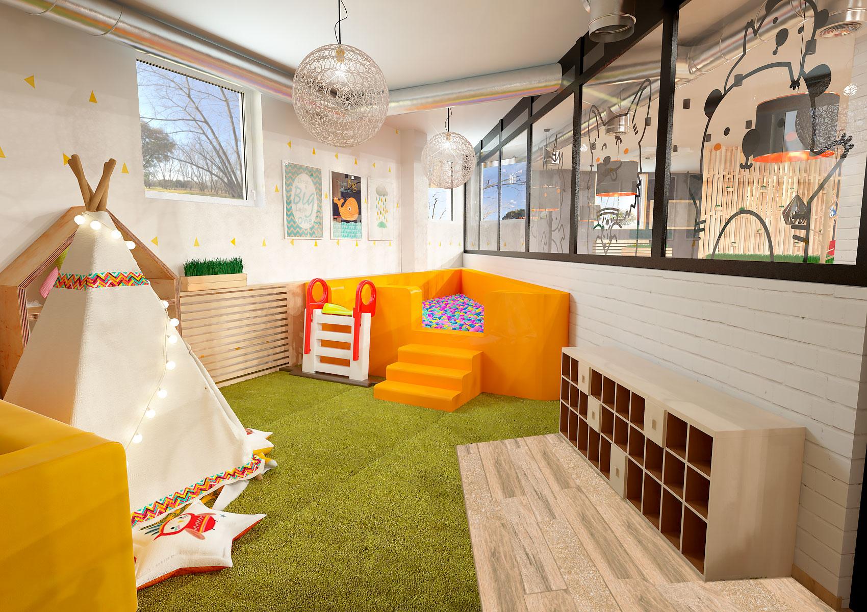 Детская комната в ресторане ПиццаФабрика