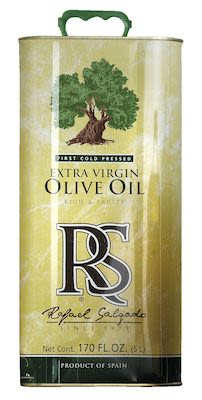 Rafael Salgado Extra Virgin Olive Oil 5 litre in tin-can.