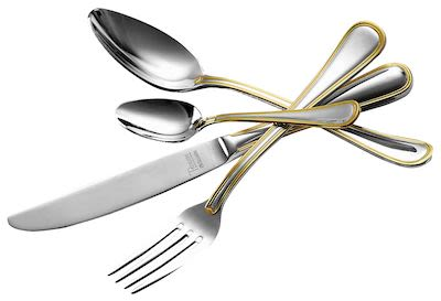 Amefa 152-pcs Cambridge Gold-Plated Cutlery Set