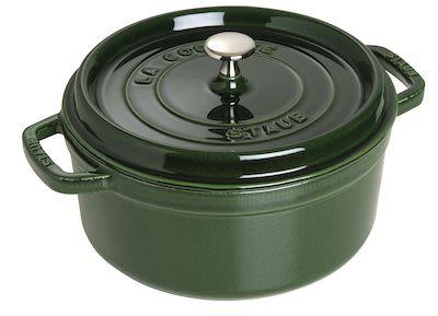 Staub Round Cocotte 3.8 ltr/24 cm Green