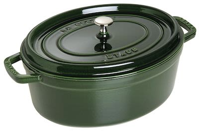 Staub Oval Cocotte 6.7 ltr Green