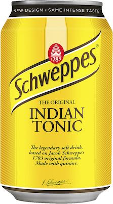 Schweppes Indian Tonic 24x33 cl. cans.