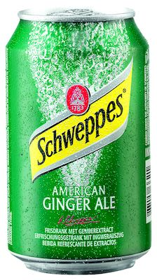 Schweppes American Ginger Ale 24x33 cl. cans.