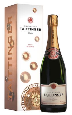 Taittinger Reserve Brut 75 cl. - Alc. 12,5% Vol. In gift box.
