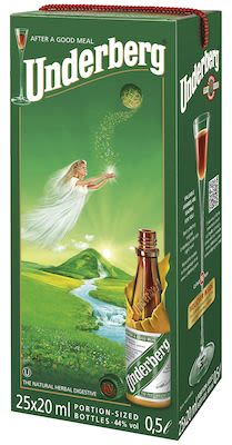 Underberg Bitter 25x20 ml. - Alc. 44% Vol. In gift box.