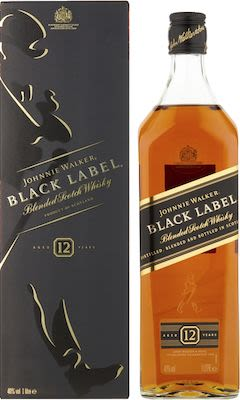 Johnnie Walker Black Label, 100 cl. - Alc. 40% Vol. In gift box.